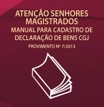 Manual para cadastro de declaração de bens CGJ