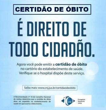Certidão de Óbito – É direito de todo cidadão